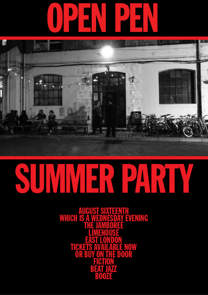 Open Pen Summer Party poster